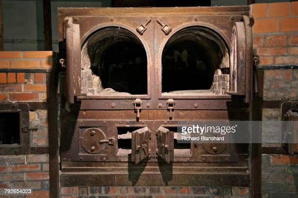 Ovens in the crematorium of 'Barrack X' at the site of the former Dachau Nazi concentration camp in Bavaria, Germany, 2014. Barrack X was completed...