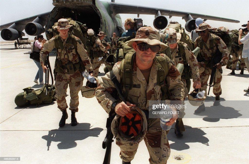 RETRO-GULF WAR-US SOLDIERS : News Photo