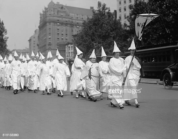 Over 100000 people are expected in Washington for the Klan parade and gathering Government buildings are all guarded in case of disorder Photo shows...