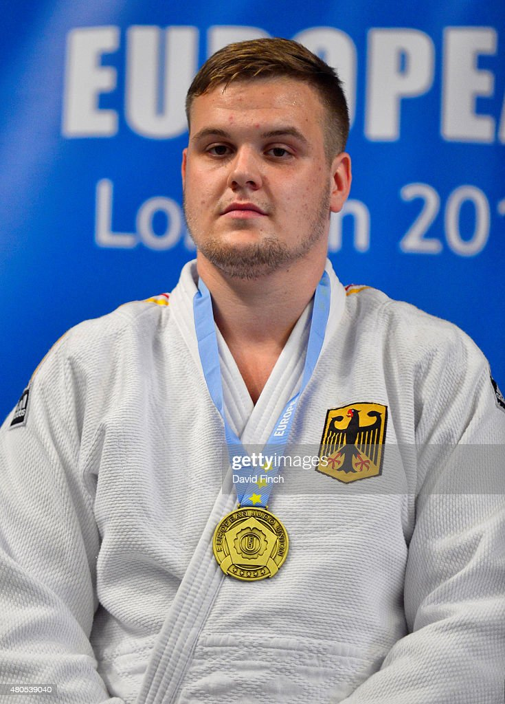 Over 100kg gold medallist, Anton Krivickij of Germany during the 2015 London European Cup (11-12 July) at Wembley Arena, London, England, United Kingdom.