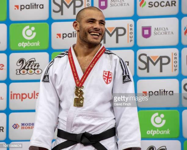 Over 100kg gold medallist Guram Tushishvili of Georgia during day seven of the 2018 Judo World Championships at the National Gymnastics Arena on...