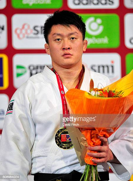 Over 100kg heavyweight gold medallist Hisayoshi Harasawa of Japan during the 2016 Paris Grand Slam on Sunday February 7 2016 at the BercyParis Arena...