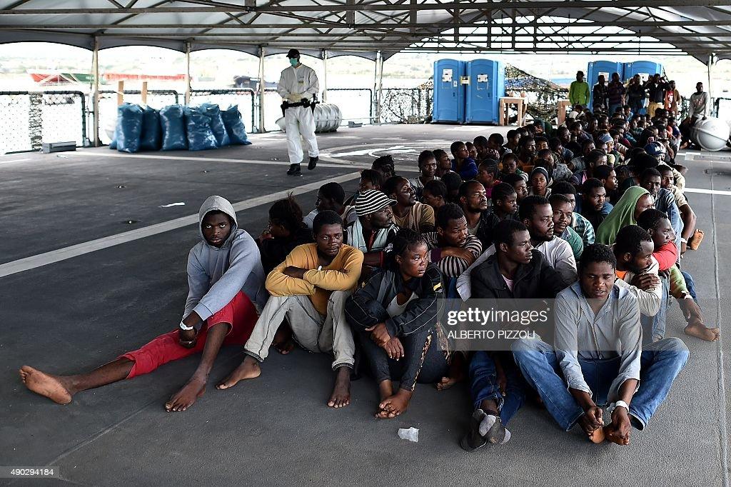 ITALY-GERMANY-EUROPE-MIGRANTS : News Photo