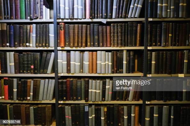 Over 140000 books line the shelves inside the Leeds Library on January 9 2018 in Leeds England This year sees the 250th anniversary of the oldest...