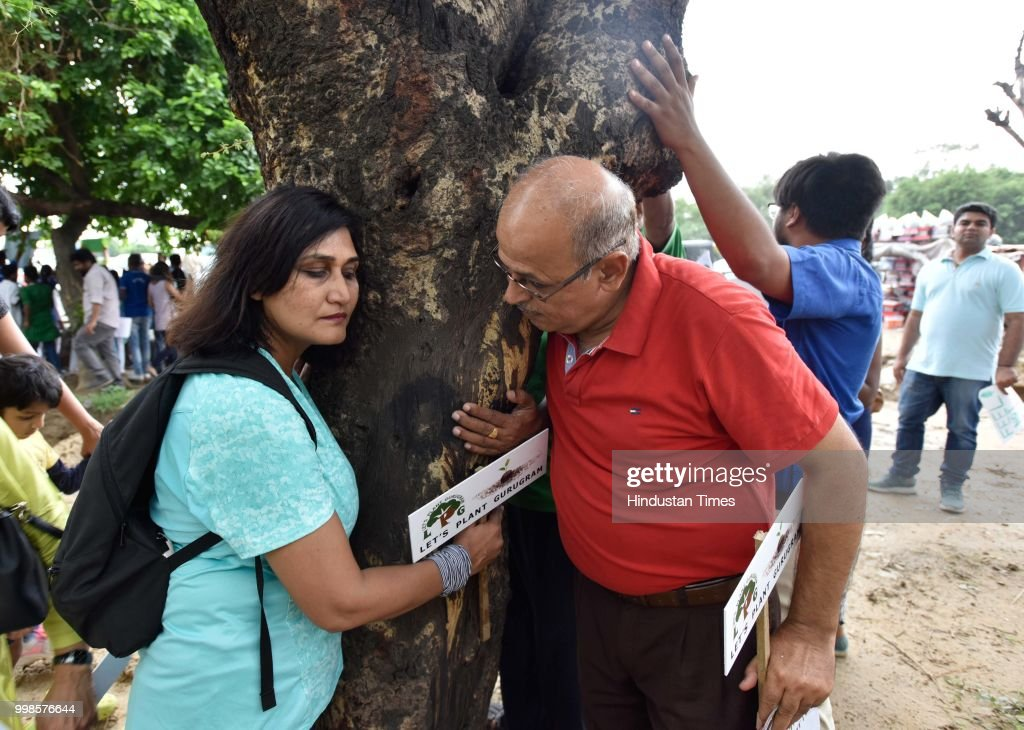 Over 150 Environmentally Conscious Citizens Protest Against Tree-Fallings In Gurugram