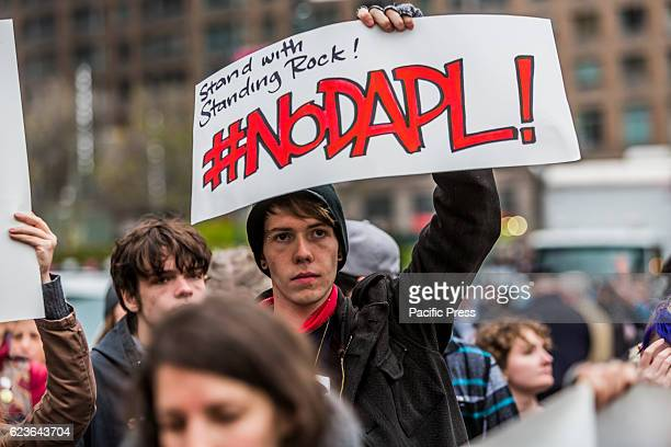 Over 300 actions in all 50 states engaged in a national day of action in solidarity to stop the 38 billion dollar Dakota Access Pipeline In New York...