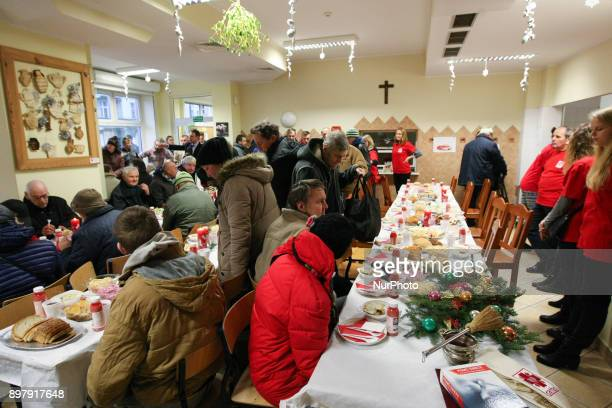 Over 300 people took part in the Christmas Eve meal in Gdansk Poland on 24 December 2017 Traditional Polish Christmas Eve meal was organized by...