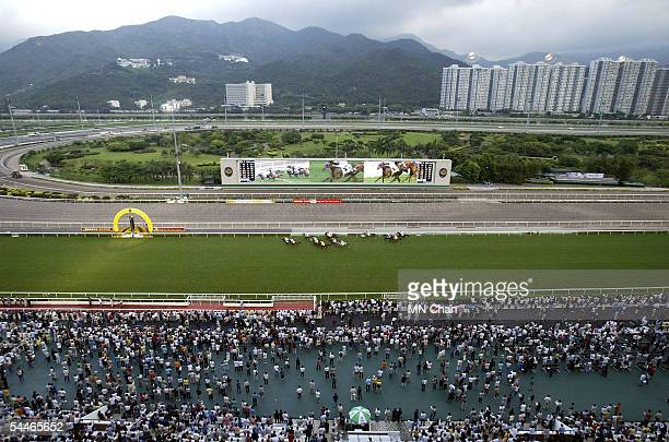 Over 33,000 people attend the Hong Kong Jockey Club 2005/06 racing season opening at Sha Tin Racecourse on September 4, 2005 in Hong Kong, China....