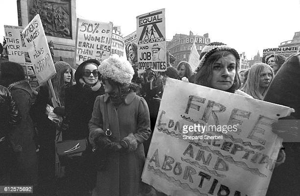 Over 4000 women take part in the first women's liberation march in London