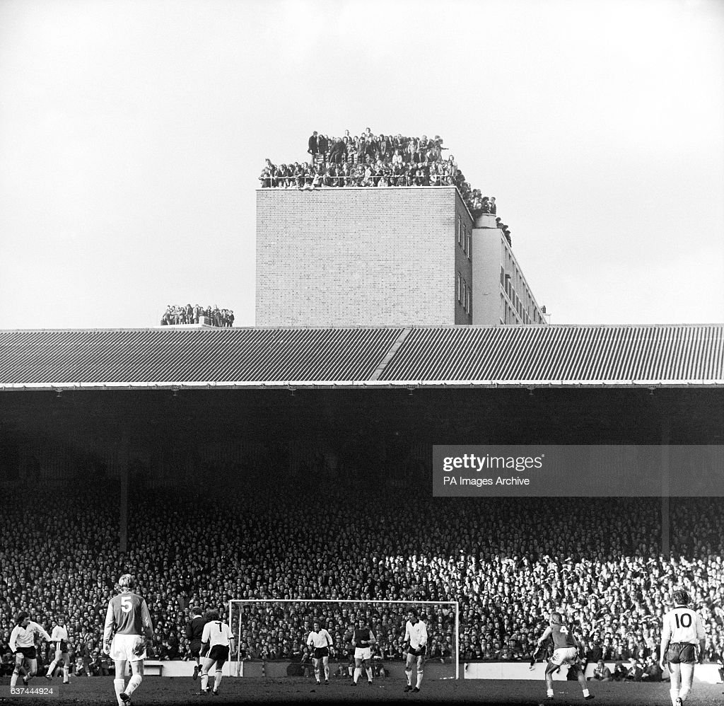Over 40,000 people turned up to watch West Ham United v Hereford United in the FA Cup Fourth Round. Those without tickets found other ways to watch the match, including sitting on the roof of a nearby building
