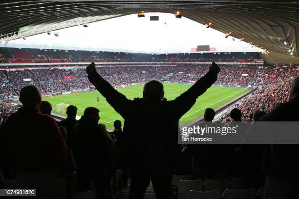 Over 45 thousand fans fill the Stadium during the Sky Bet League One match between Sunderland and Bradford City at Stadium of Light on December 26,...