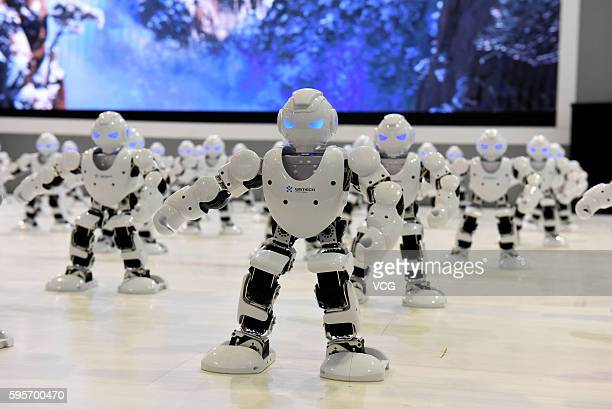 Over 50 robots dance during the opening ceremony of the sixth Shandong Cultural Industries Fair at Jinan International Convention Exhibition Center...