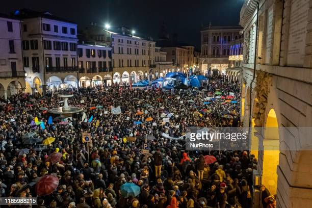 Over 5000 people demonstrated in Piazza delle Erbe in Padua after the demonstrations in Bologna, Parma and other Italian cities, the...