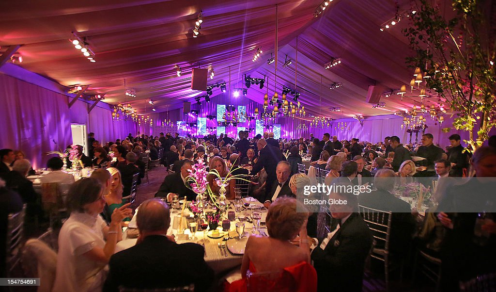 Over 550 Guests Attended A Dinner In Tent Behind Symphony Hall To Celebrate The
