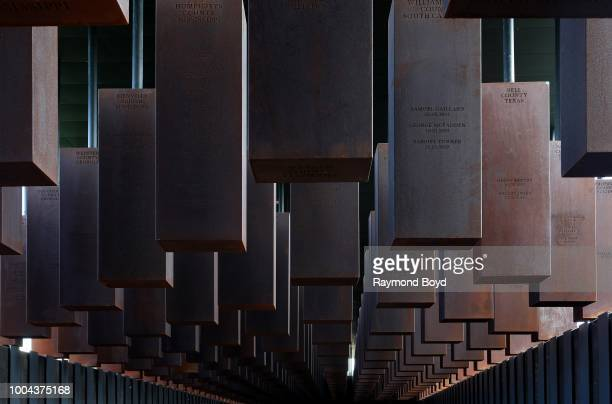 Over 800 corten-steel monuments, one for each county in the United States where a racial terror lynching took place with the names of the lynching...