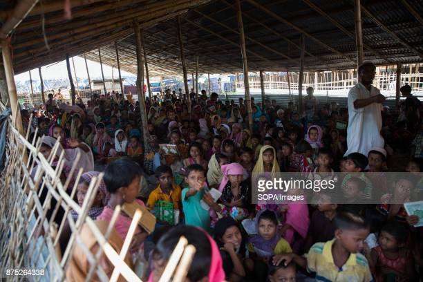 Over a thousand children seen waiting patiently for their dinner More than 600000 Rohingya refugees have fled from Myanmar Rakhine state since August...