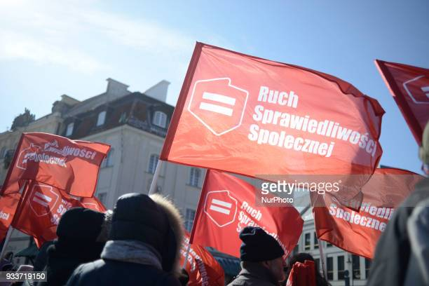 Over a thousand people took part in a antifascism demonstration in Warsaw Poland on March 17 2018 amidst fears the country is increasingly moving in...