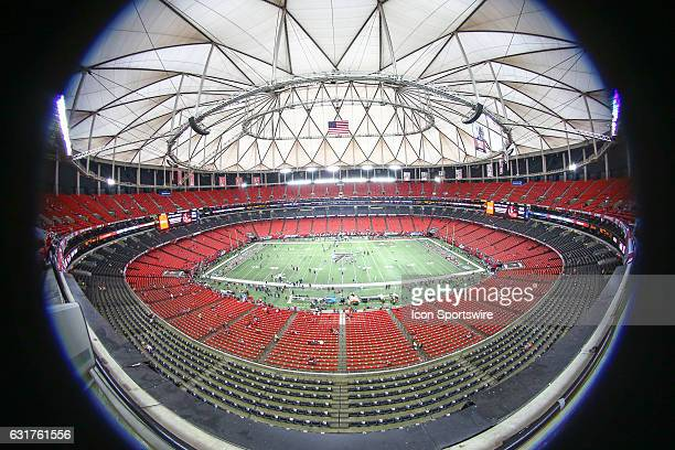 A over all look inside the Georgia Dome and what could be the last football game played here after today's NFC Divisional Playoff game between the...