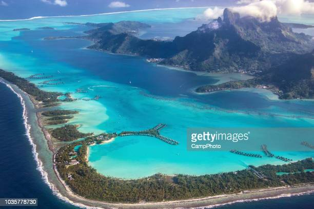 over bora bora - elysium stock pictures, royalty-free photos & images