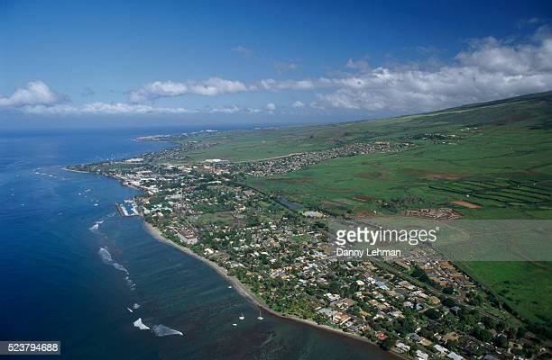 over lahaina - lahaina stock pictures, royalty-free photos & images