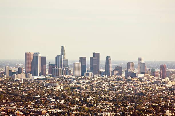 Over Looking Los Angeles Skyscrapers Wall Art