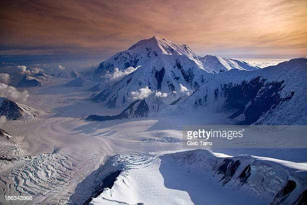 over mckinley alaska - mt mckinley stock photos and pictures