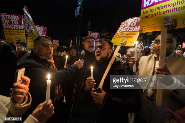 Over one hundred and fifty people attend a vigil organised by Stand Up To Racism on December 30 2019 in London England Stand Up To Racism organised a...