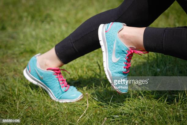 Over one hundred mainly female participants showed up in Myslecinek park on Saturday 20 May 2017 in a Reebok sponsored physical training exercise For...