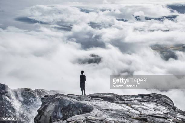 over the clouds at patagonia - radicella stock photos and pictures