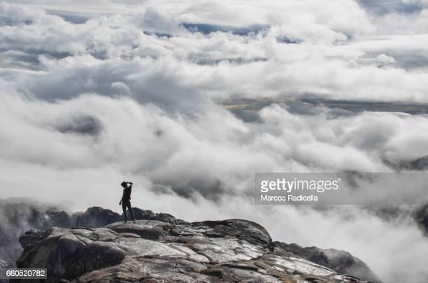 over the clouds at patagonia - radicella bildbanksfoton och bilder