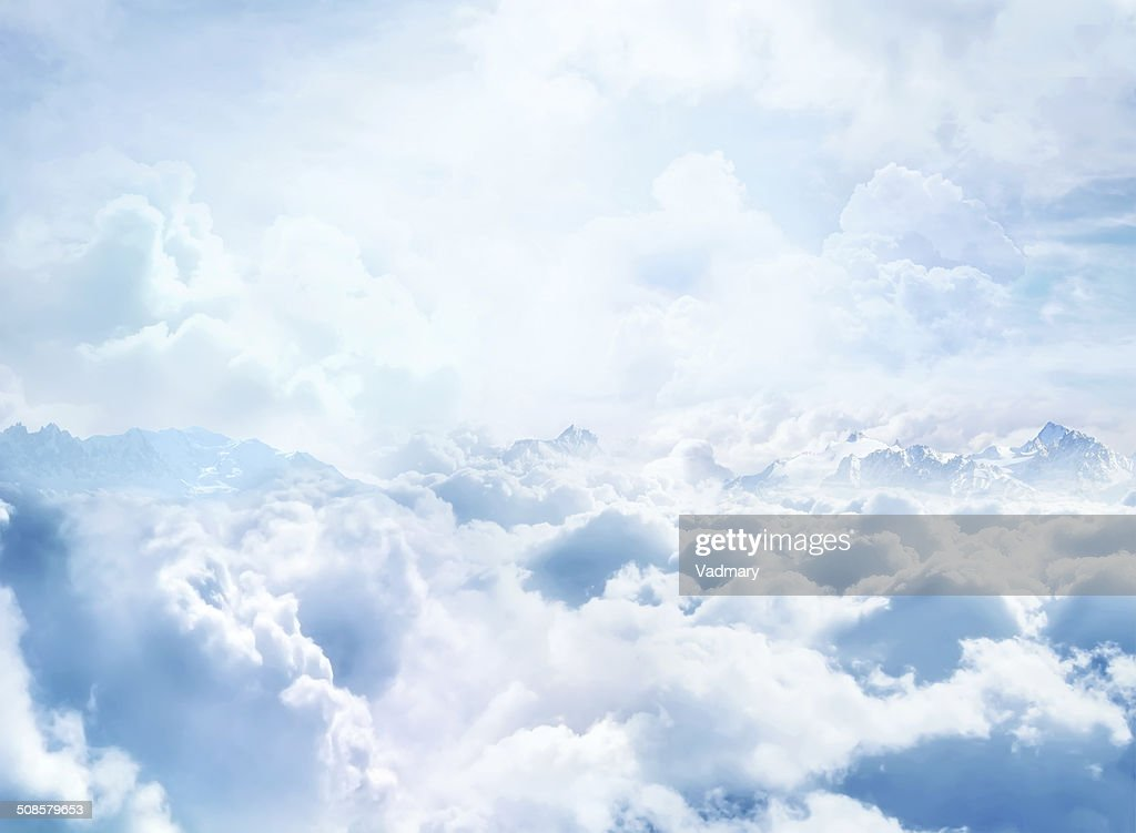 Over the Clouds : Stock Photo