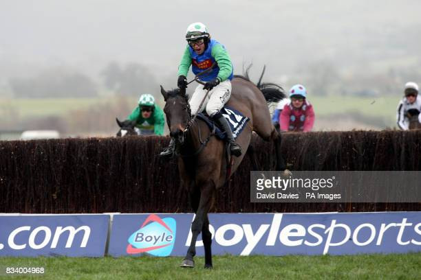 Over the Creek ridden by Christian Williams on his way to winning the Boylesportscom Cashback Steeple Chase