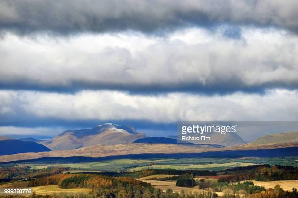 Over the fields to the Highland mountains beyond