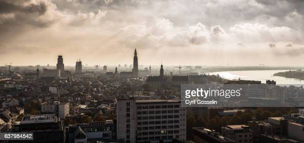 Over the roofs of Antwerp