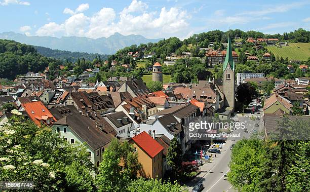 over the roofs of feldkirch - austria - フォアアールベルク州 ストックフォトと画像