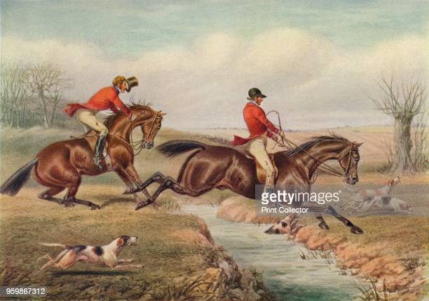 Over the Stream' circa 1800 From British Sporting Artists From Barlow to Herring by Walter Shaw Sparrow [John Lane The Bodley Head Limited London...