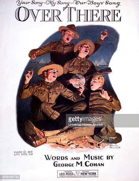 Over There Words and Music by George M Cohan Sheet Music Cover Illustration by Norman Rockwell 1918