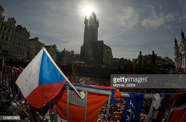 Over three thousand people gathered for a farewell ceremony at the Old Town Square on September 11 2011 in Prague to pay tribute to Josef Vasicek Jan...