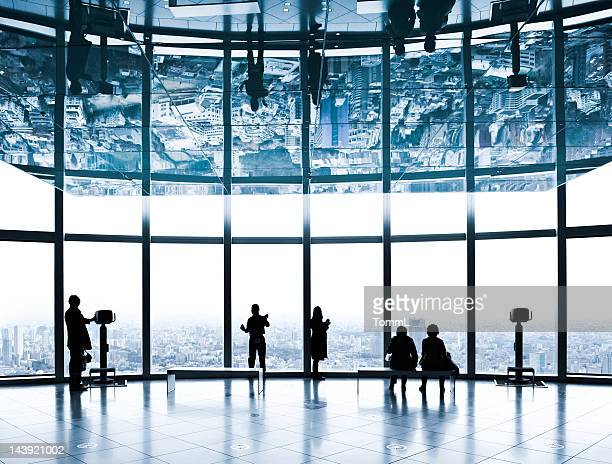 over tokyo. japan - roppongi hills stock pictures, royalty-free photos & images