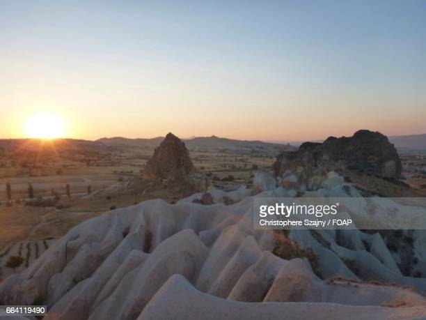 over view of sunset - central anatolia stock photos and pictures