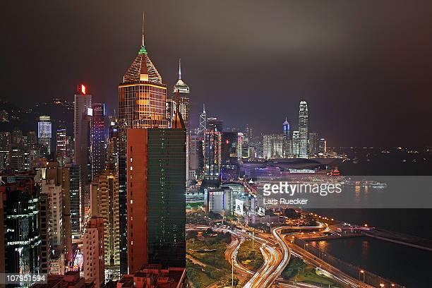over wan chai - 中環中心 ストックフォトと画像