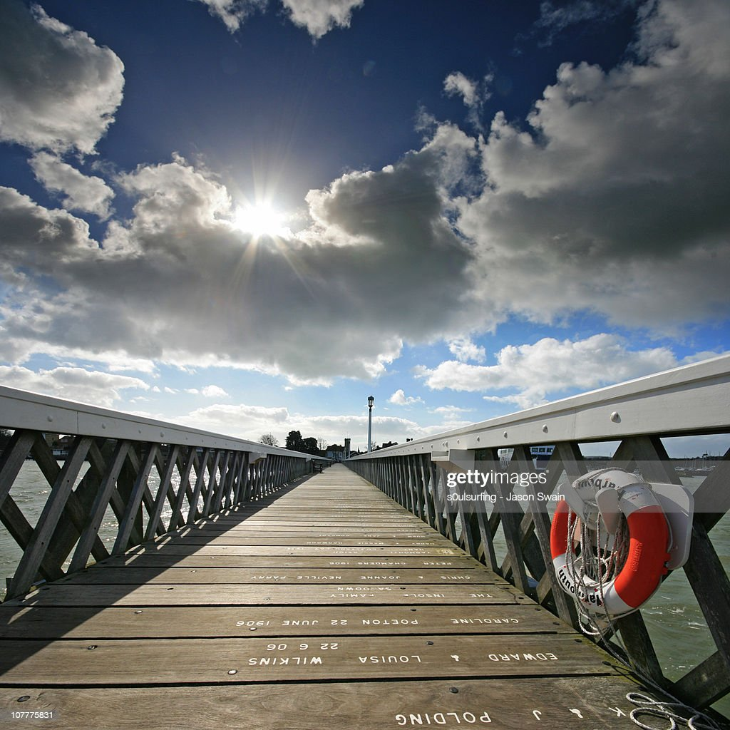 UFO (unidentified flare object) over Yarmouth Pier : Stock Photo