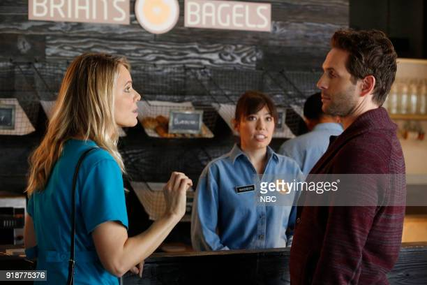 AP BIO 'Overachieving Virgins' Episode 107 Pictured Collette Wolfe as ExGirlfriend Glenn Howerton as Jack Griffin