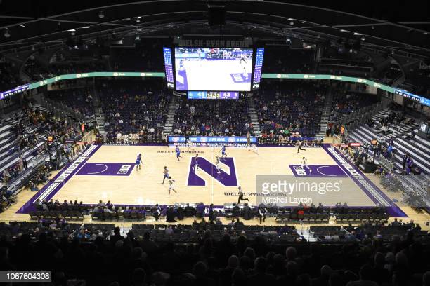 Overall during a college basketball game between the American University Eagles and the Northwestern Wildcats at the WelshRyan Arena on November 12...