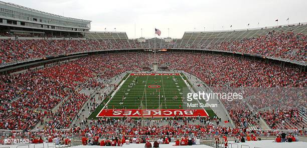 Overall of Ohio Stadium on the campus of the Ohio State University prior to the start of the Spring Game on April 19 2008 in Columbus Ohio