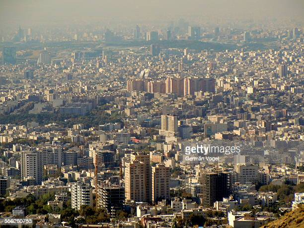 Overall Tehran skyline and residential areas