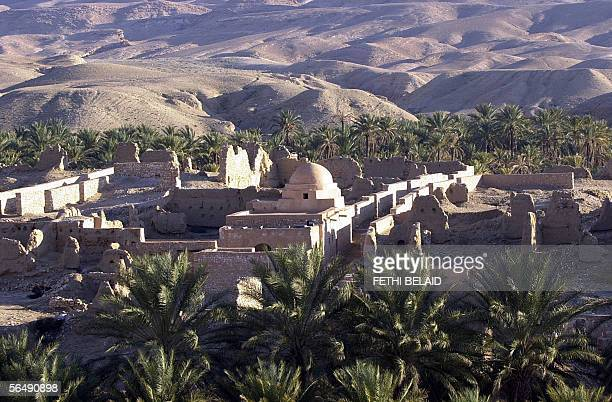 Overall view of a Berberian village taken 27 December 2005 in the Sahara desert on the second day of the 38th edition of the International Sahara...