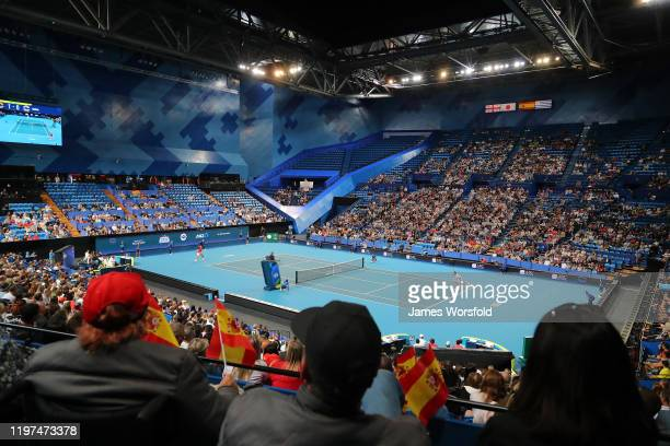 Overall view of RAC Arena during day two of the 2020 ATP Cup Group Stage at RAC Arena on January 04 2020 in Perth Australia
