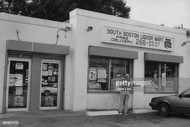 Overall view of South Boston Liquor Mart which is said to be secretly controlled by mobster James J. Whitey Bulger & was the location where his...