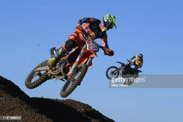 Overall winner Antonio Cairoli of Italy in action during the MXGP Great Britain Championship at Matterley Basin on March 24 2019 in Winchester England